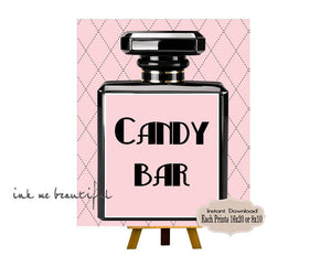 DIGITAL FILE Candy Bar Sign, Baby Shower, Fashion Baby Shower, Baby Shower Decor, Bridal Shower, Birthday Party