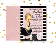 Load image into Gallery viewer, DIGITAL FILE Invitation, Babyshower, Bridal Shower,Parisian Baby Shower, Fashion Bridal Shower, Birthday, Couture Party, Paris Theme