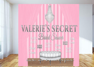 PRINTABLE  Pink Striped Back Drop, Step and Repeat, Lingerie Party, Candy Table, Bridal Shower, Sweet 16