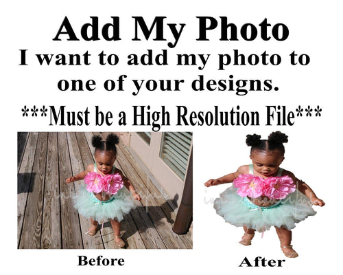 Add On - Add a High Resolution Photo to a Design