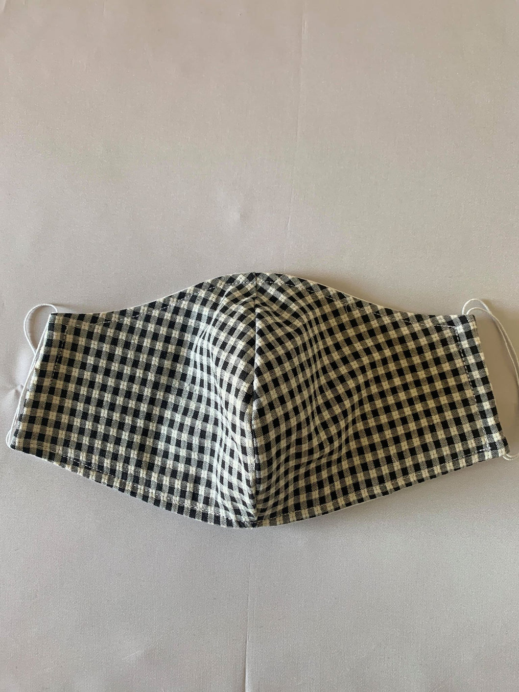 Gingham B&W - FACE MASK