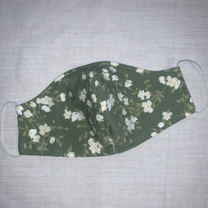 Green Floral - FACE MASK