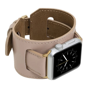 Ancona Leather Cuff Band Strap for Apple Watch