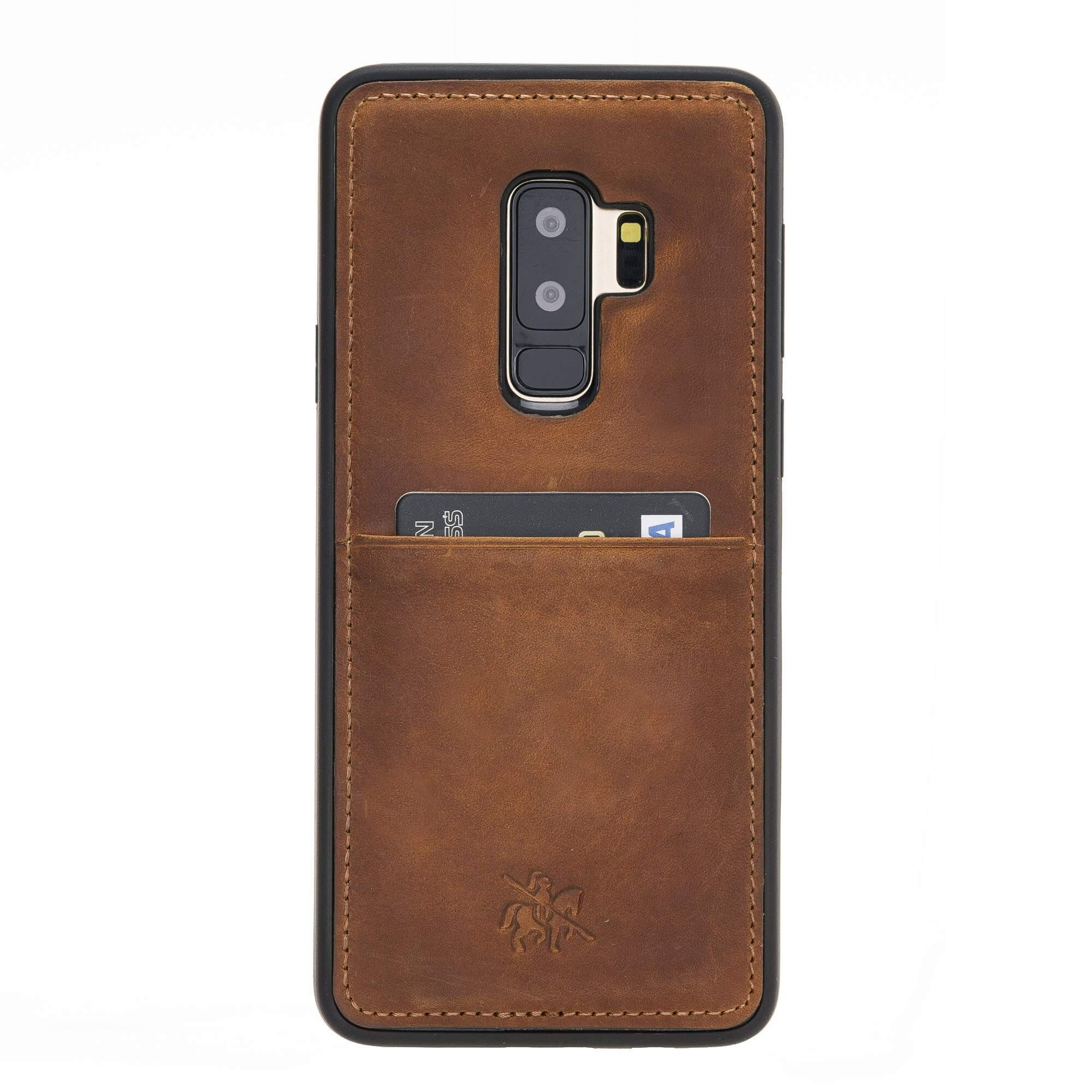 Capri Snap On Leather Wallet Case for Samsung Galaxy S9 Plus