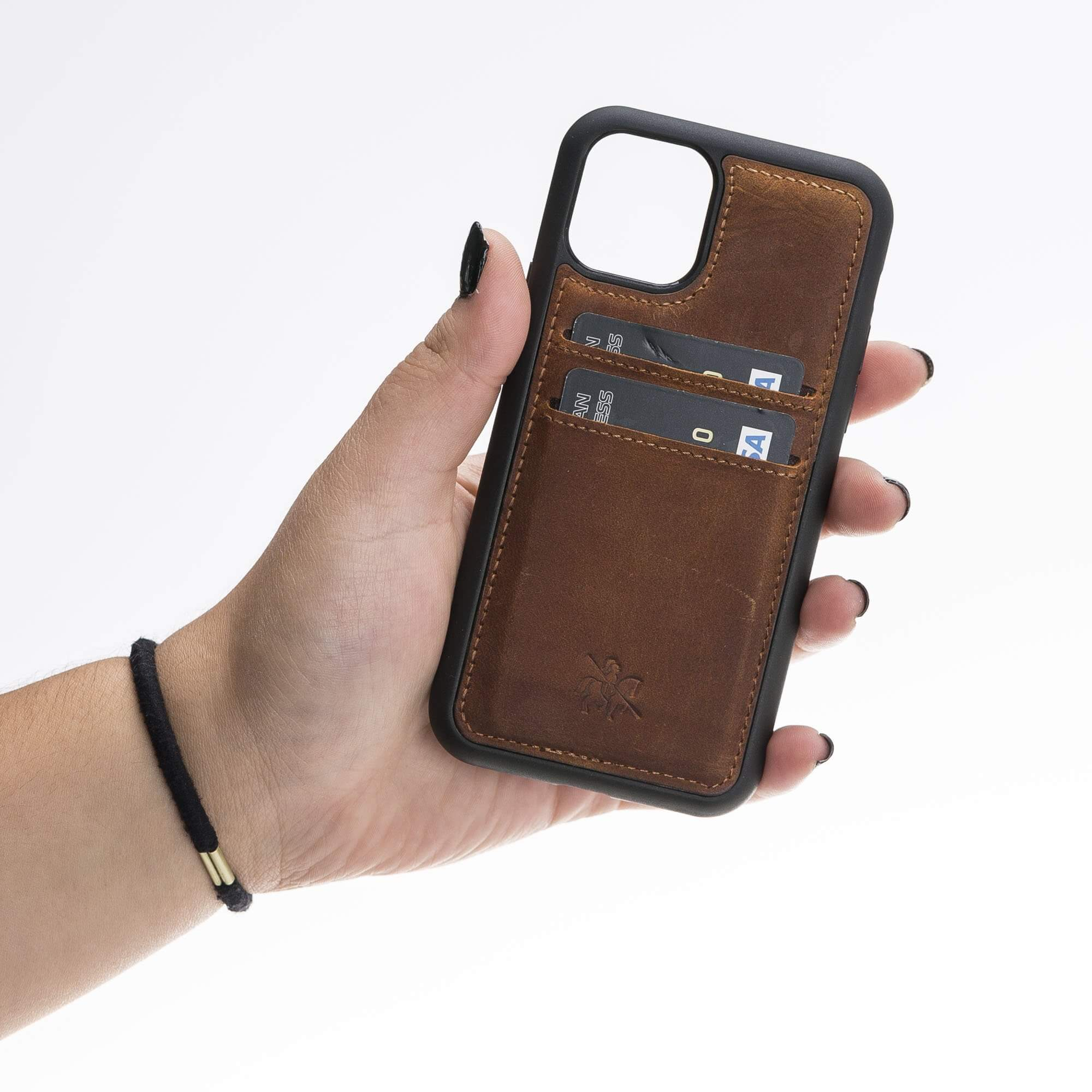 Cosa Snap On Leather Wallet Case for iPhone 11