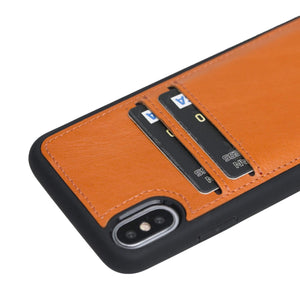 Cosa Snap On Leather Wallet Case for iPhone XS