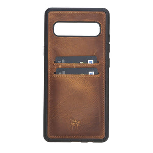 Cosa Snap On Leather Wallet Case for Samsung Galaxy S10 5G