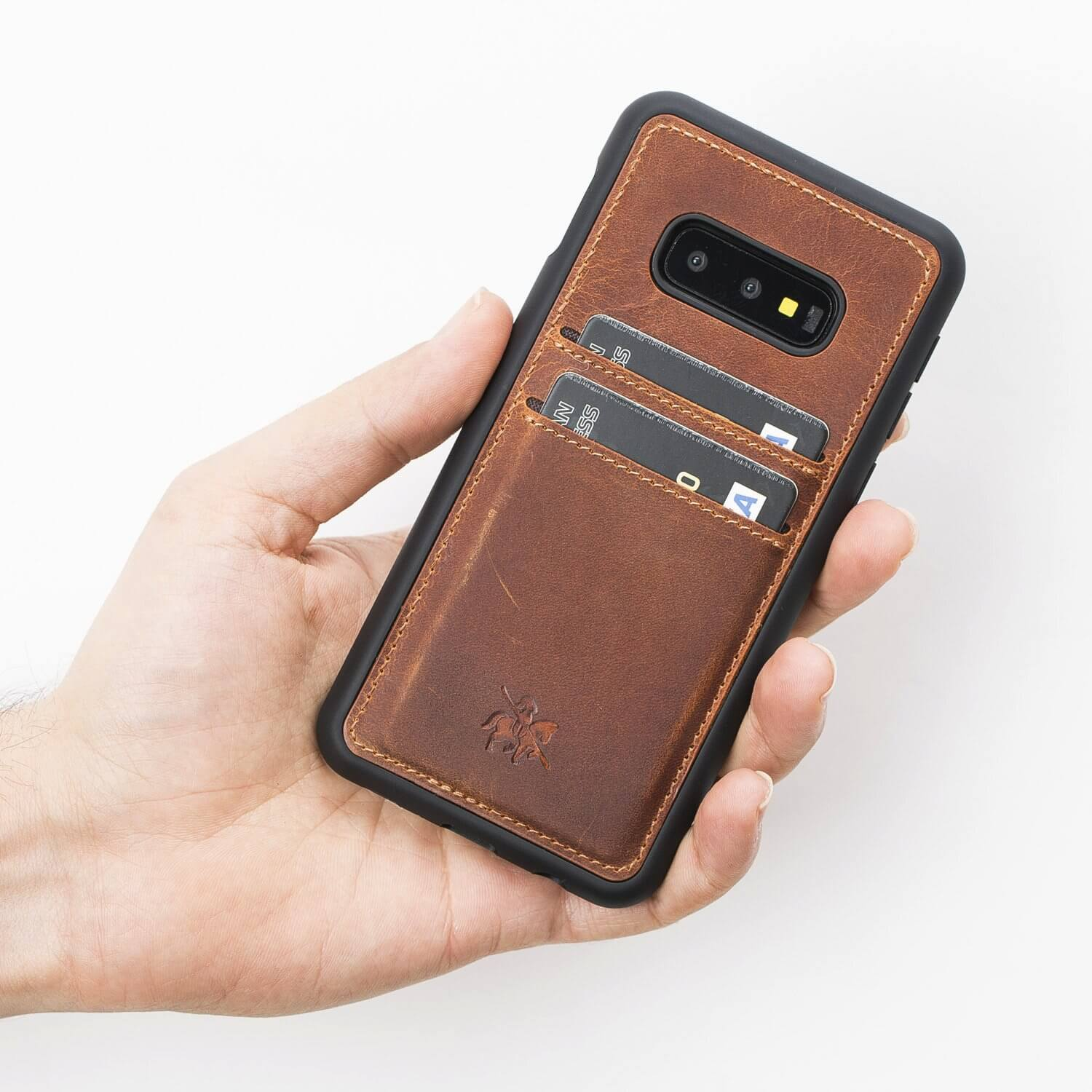 Cosa Snap On Leather Wallet Case for Samsung Galaxy S10e