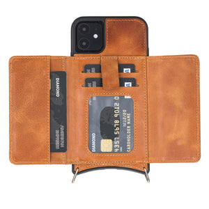 Fano Leather Crossbody Wallet Case for iPhone 11