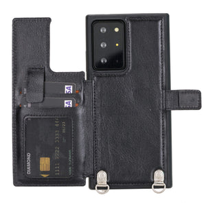 Fermo Leather Crossbody Wallet Phone Case for Galaxy Note 20 Ultra