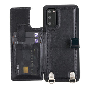 Fermo Leather Crossbody Wallet Phone Case for Galaxy S20