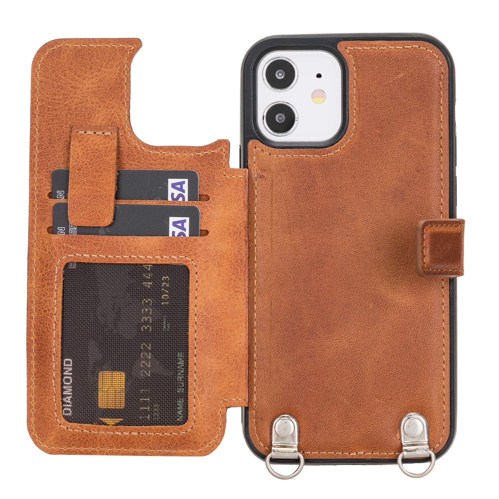 Fermo Leather Crossbody Wallet Phone Case for iPhone 12