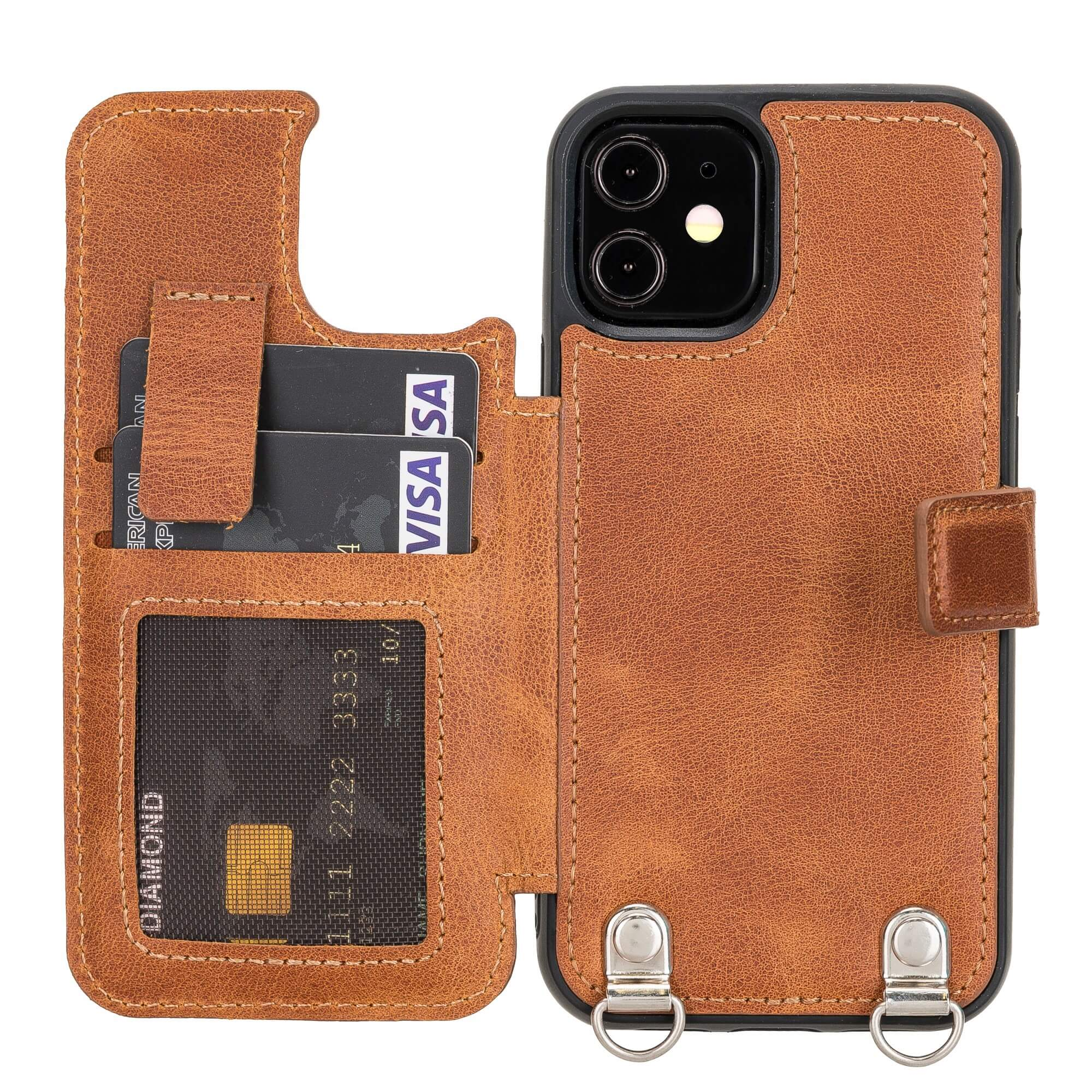 Fermo Leather Crossbody Wallet Phone Case for iPhone 12 Mini