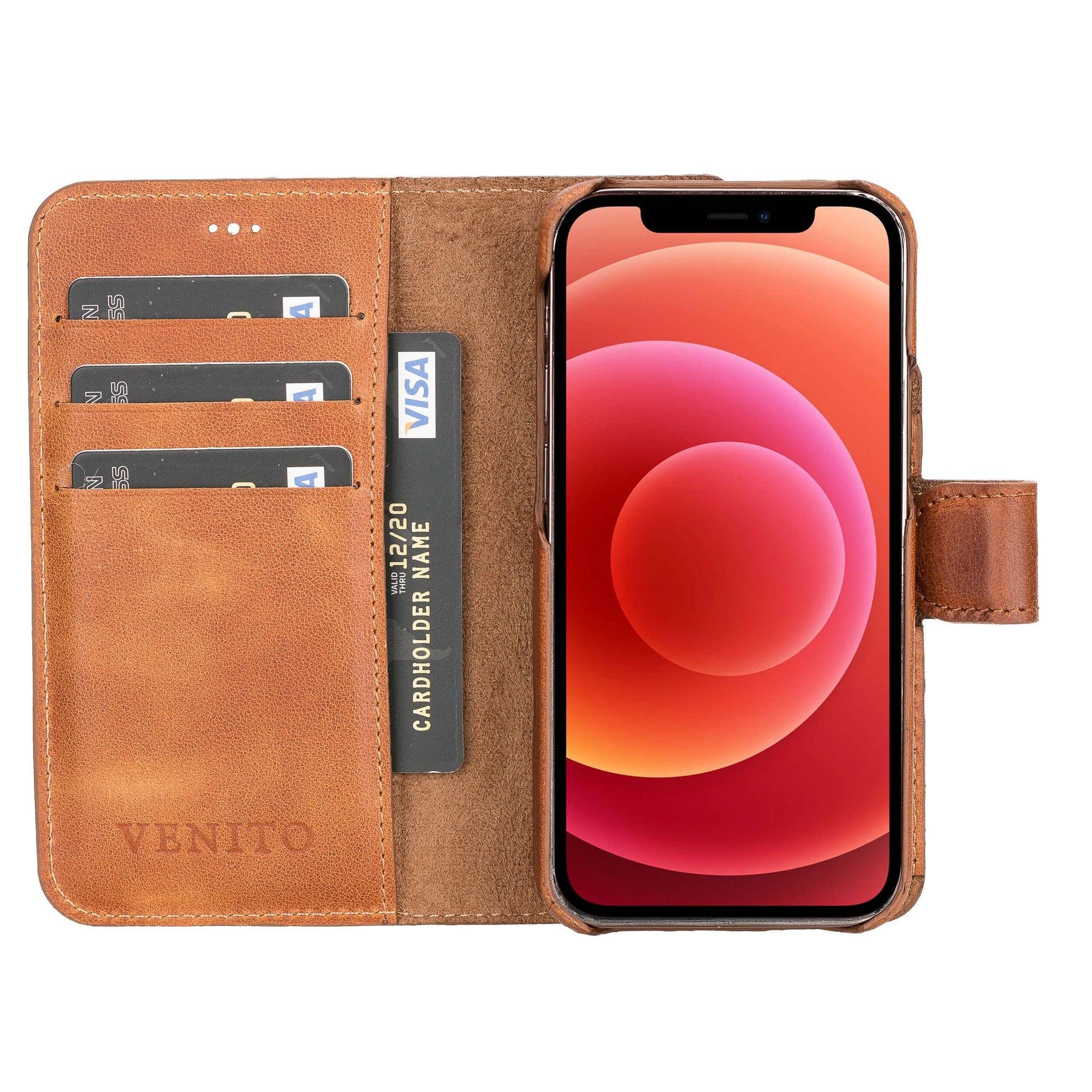 Florence Leather Wallet Case for iPhone 12 Mini