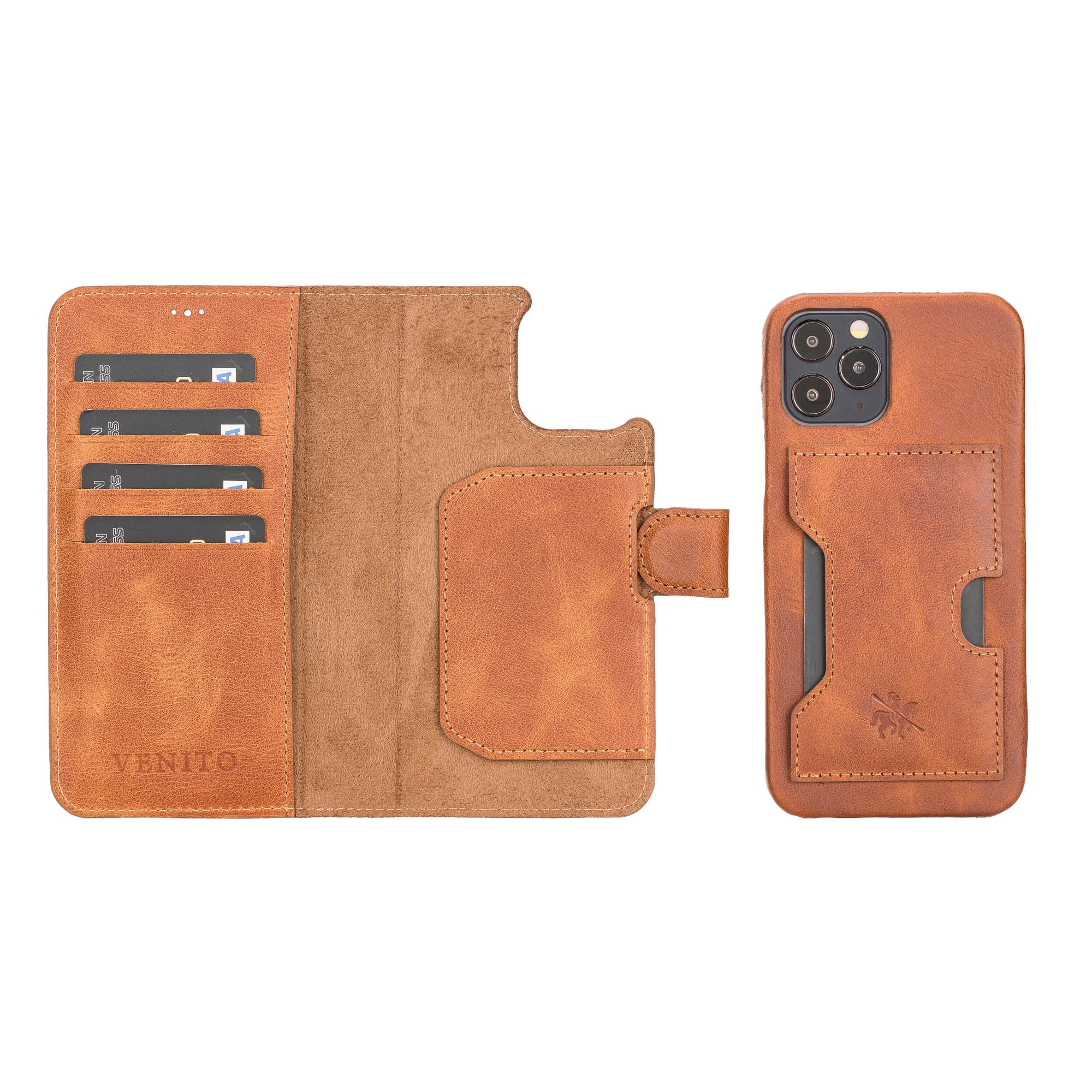 Florence RFID Blocking Leather Wallet Case for iPhone 12 Pro