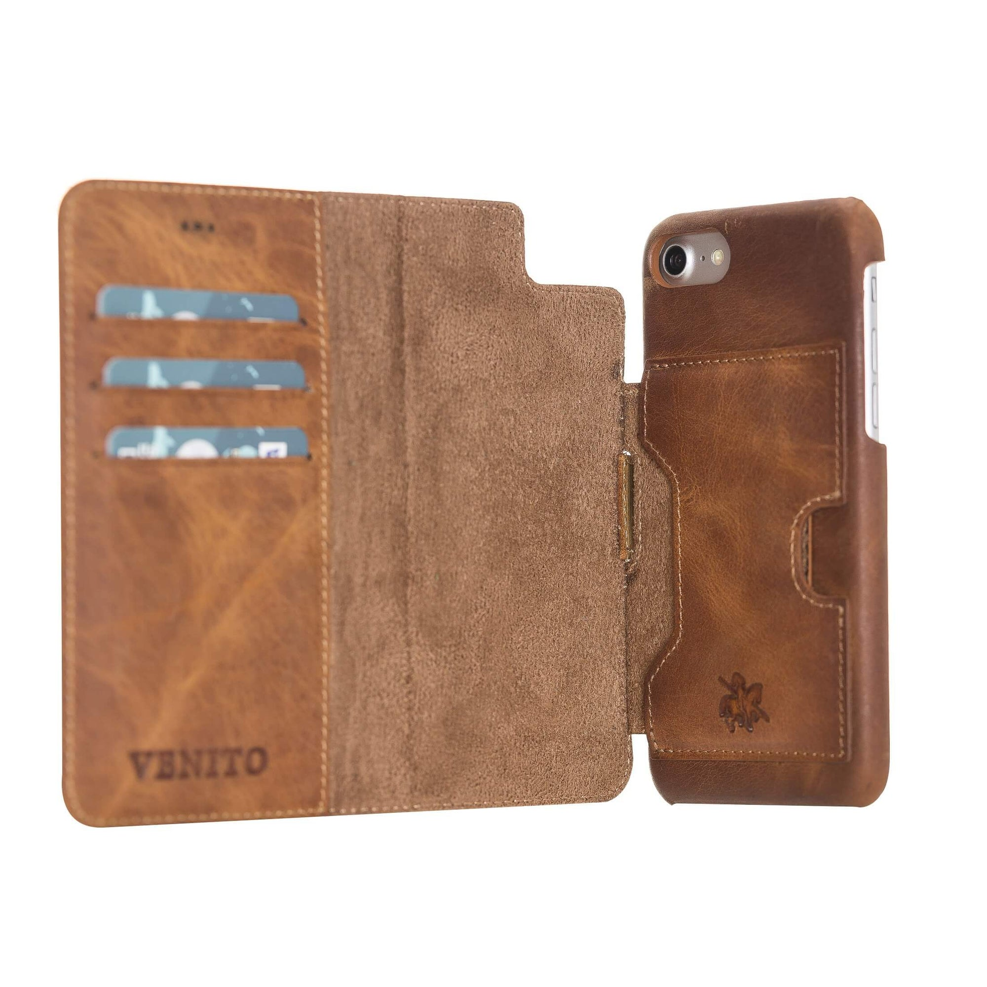 Florence RFID Blocking Leather Wallet Case for iPhone 8