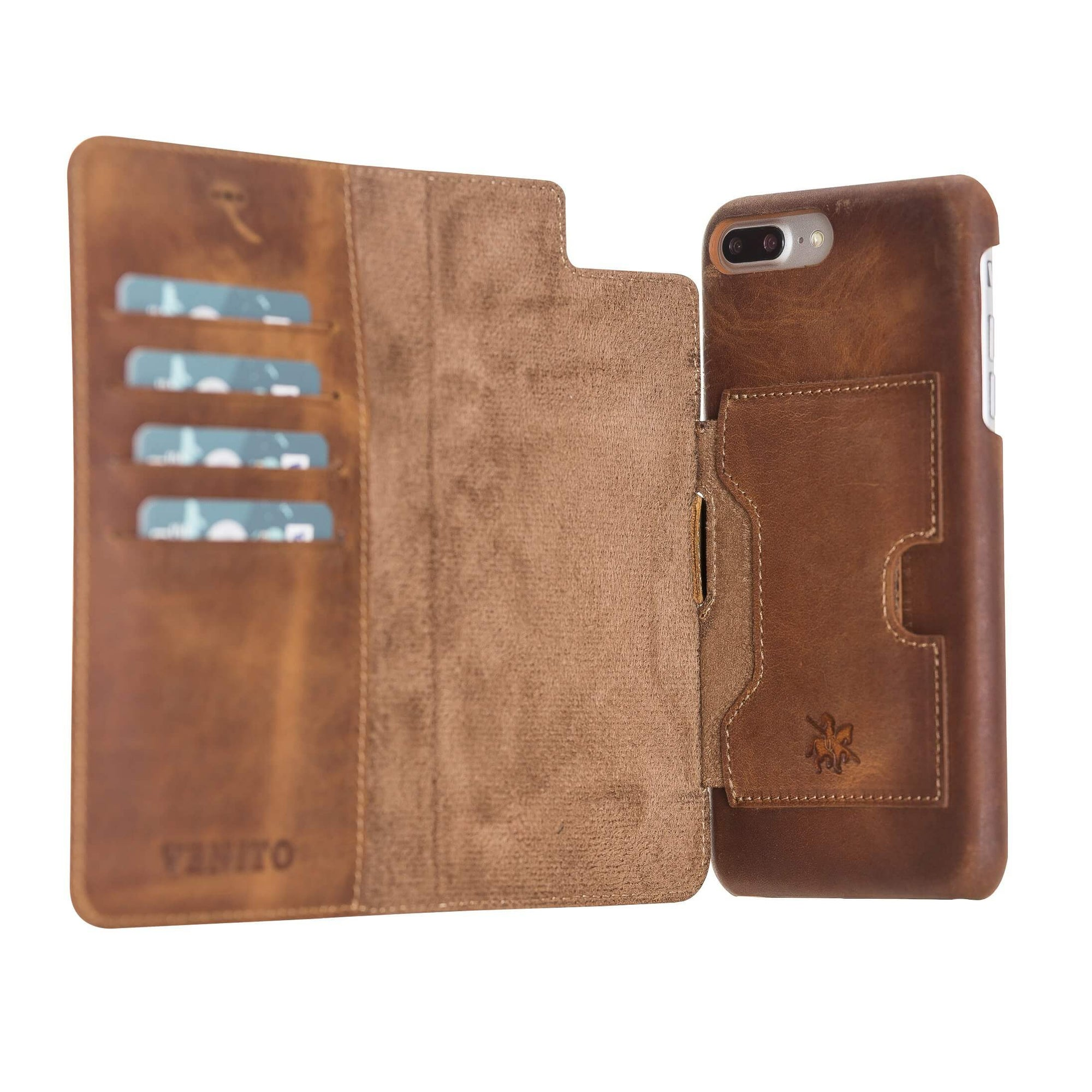 Florence RFID Blocking Leather Wallet Case for iPhone 8 Plus