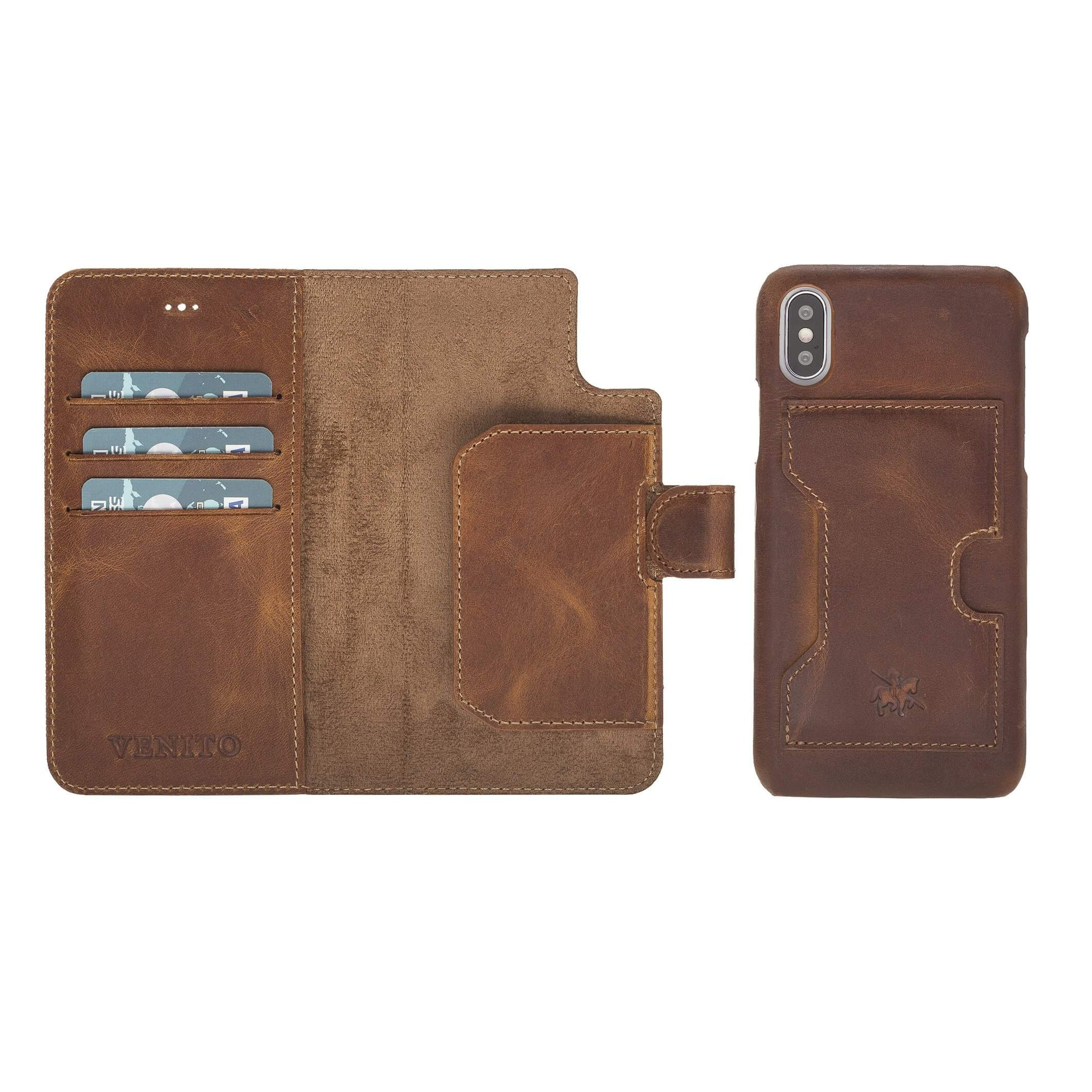 Florence RFID Blocking Leather Wallet Case for iPhone X