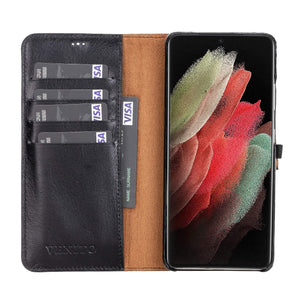 Florence RFID Blocking Leather Wallet Case for Samsung Galaxy S21 Ultra