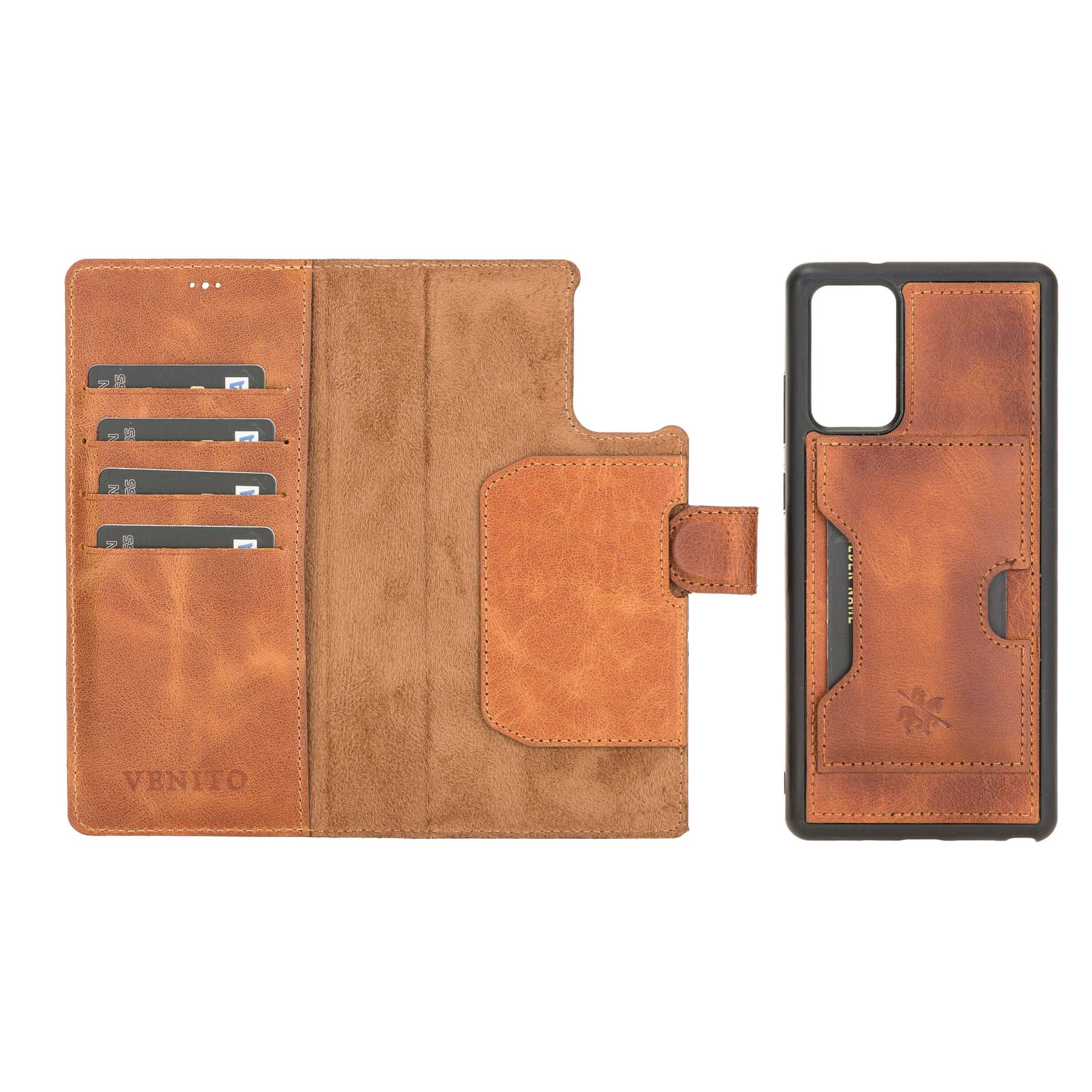 Florence RFID Blocking Leather Wallet Case for Samsung Galaxy Note 20