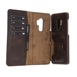 Florence RFID Blocking Leather Wallet Case for Samsung Galaxy S9 Plus