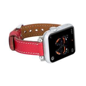 Foggia Leather Slim Band Strap for Apple Watch