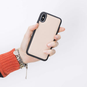 Lucca Snap On Leather Case for iPhone XS