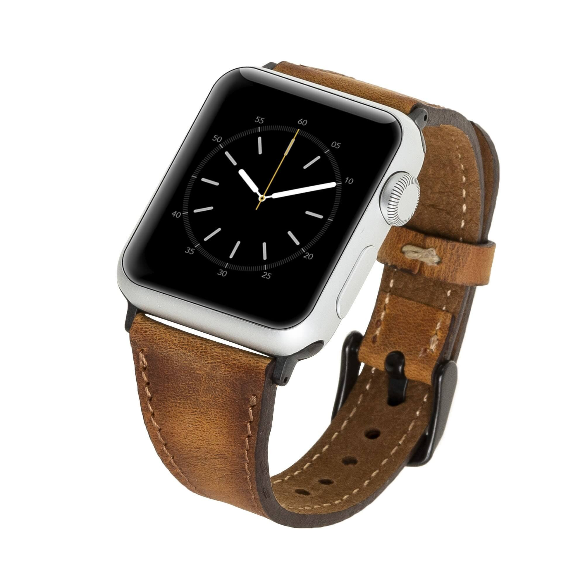Messina Leather Slim Band Strap for Apple Watch