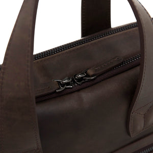 Milan Leather Messenger Laptop Bag for Men and Women