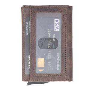 Venito Naples Premium Genuine Leather Magic Mechanical Card Holder
