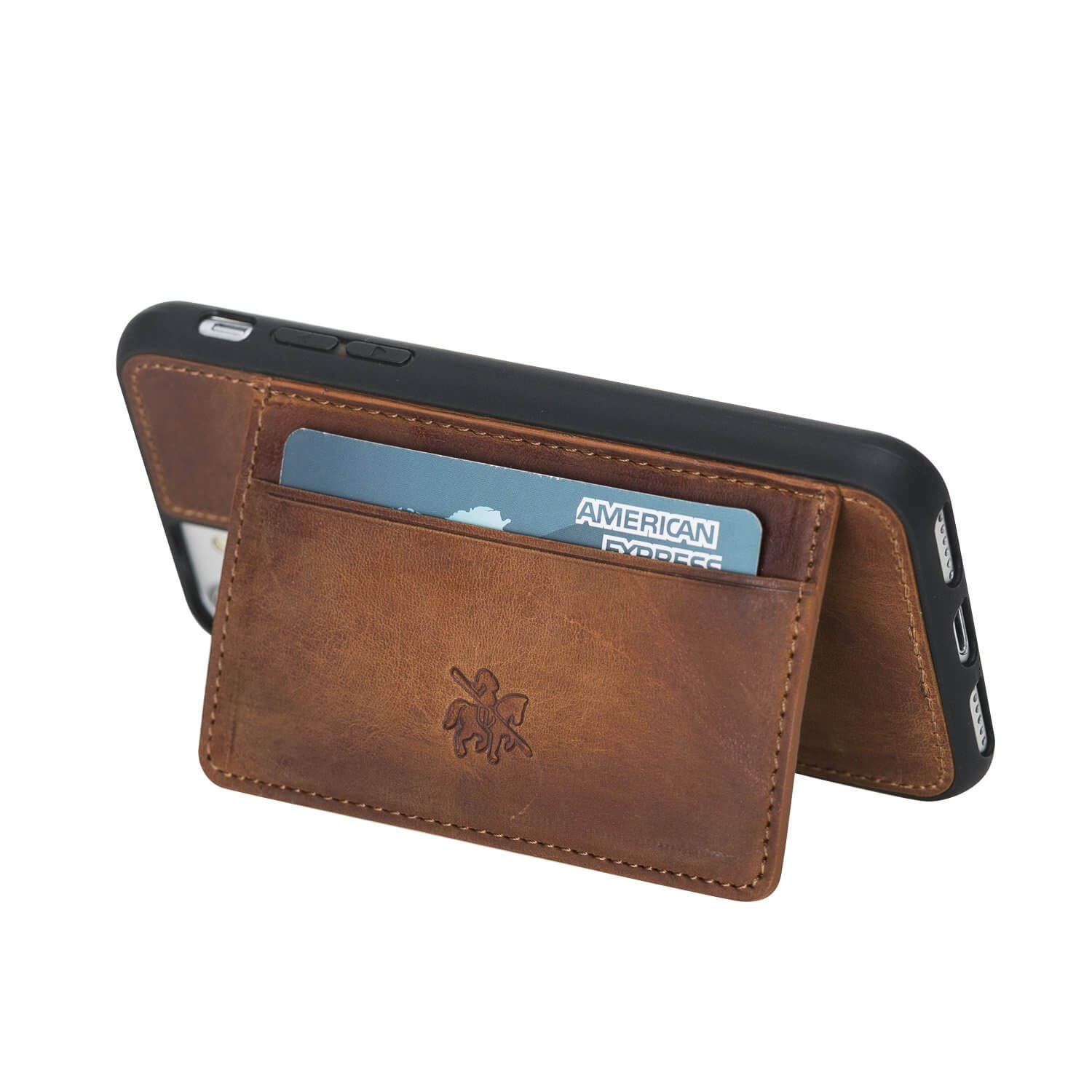 Pisa Snap On Leather Wallet Case with Stand for iPhone 8