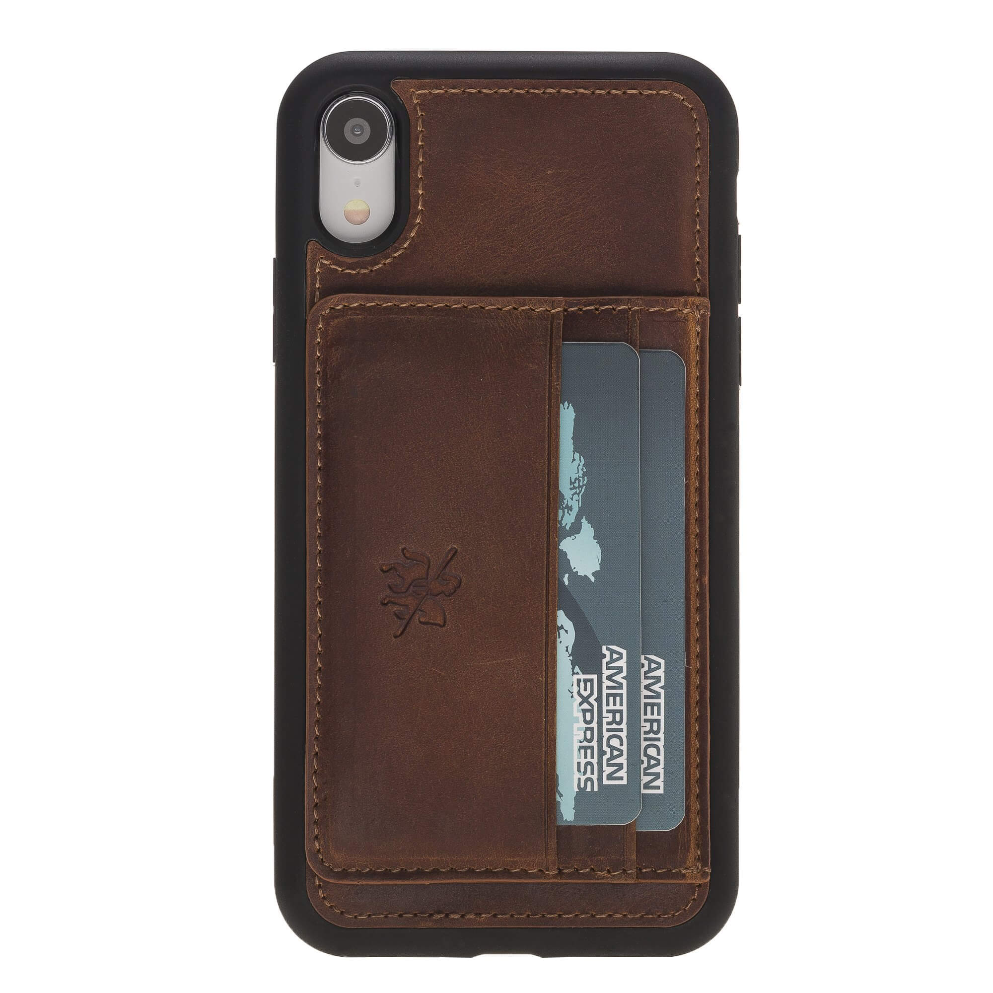 Pisa Snap On Leather Wallet Case with Stand for iPhone XR
