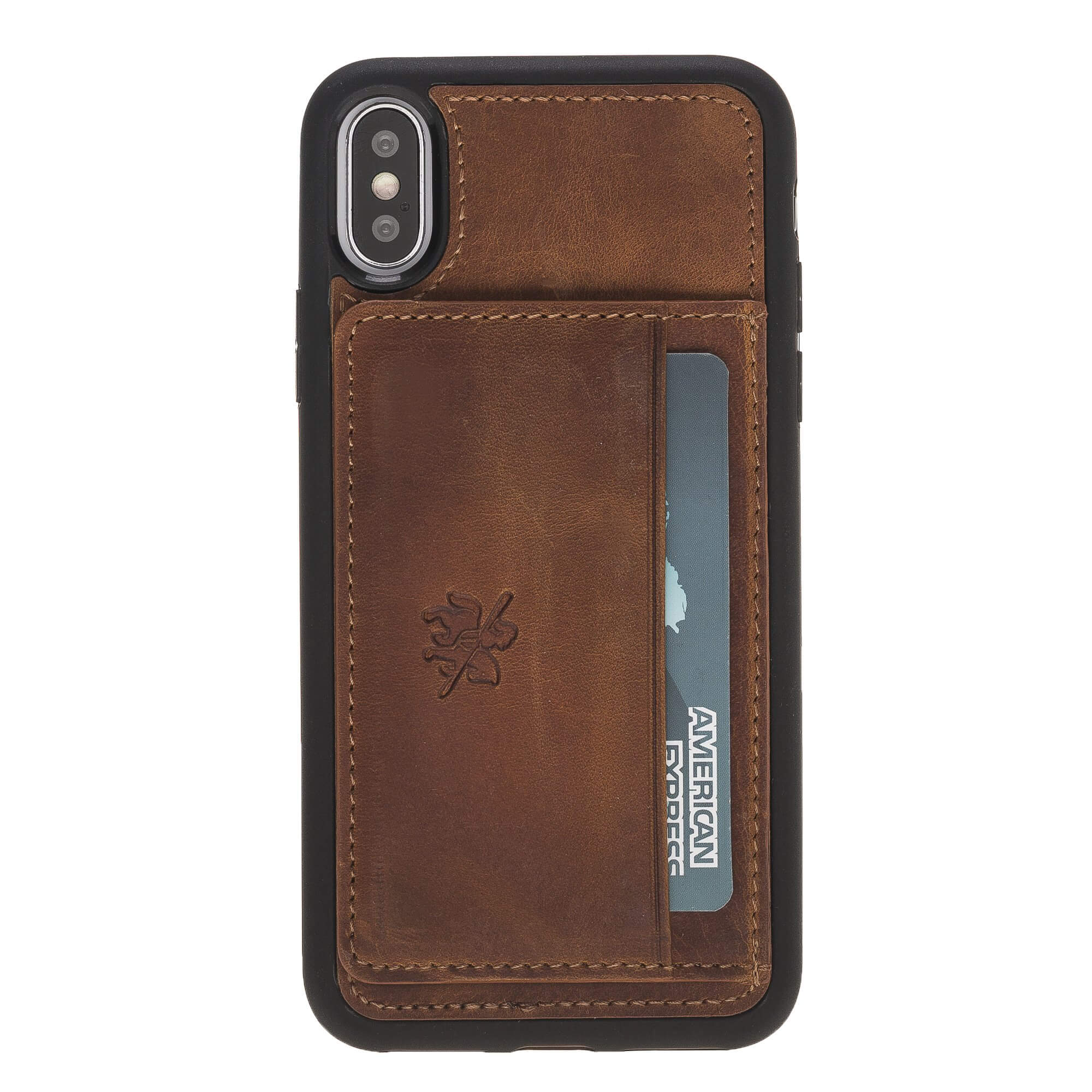 Pisa Snap On Leather Wallet Case with Stand for iPhone XS