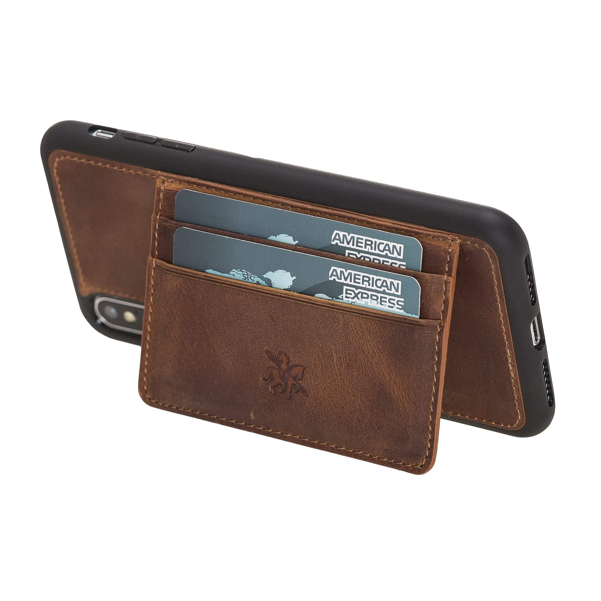 Pisa Snap On Leather Wallet Case with Stand for iPhone XS Max