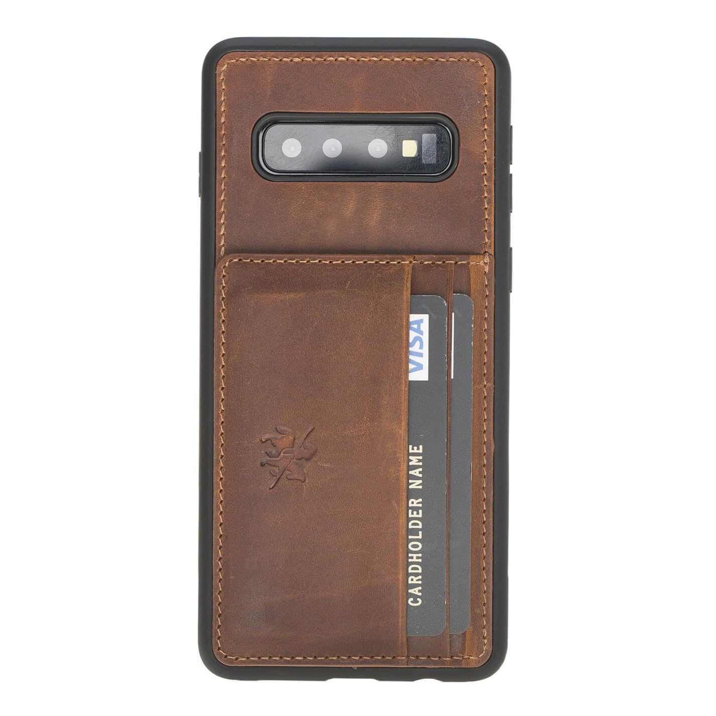 Pisa Snap On Leather Wallet Case with Stand for Samsung Galaxy S10