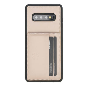 Pisa Snap On Leather Wallet Case with Stand for Samsung Galaxy S10 Plus
