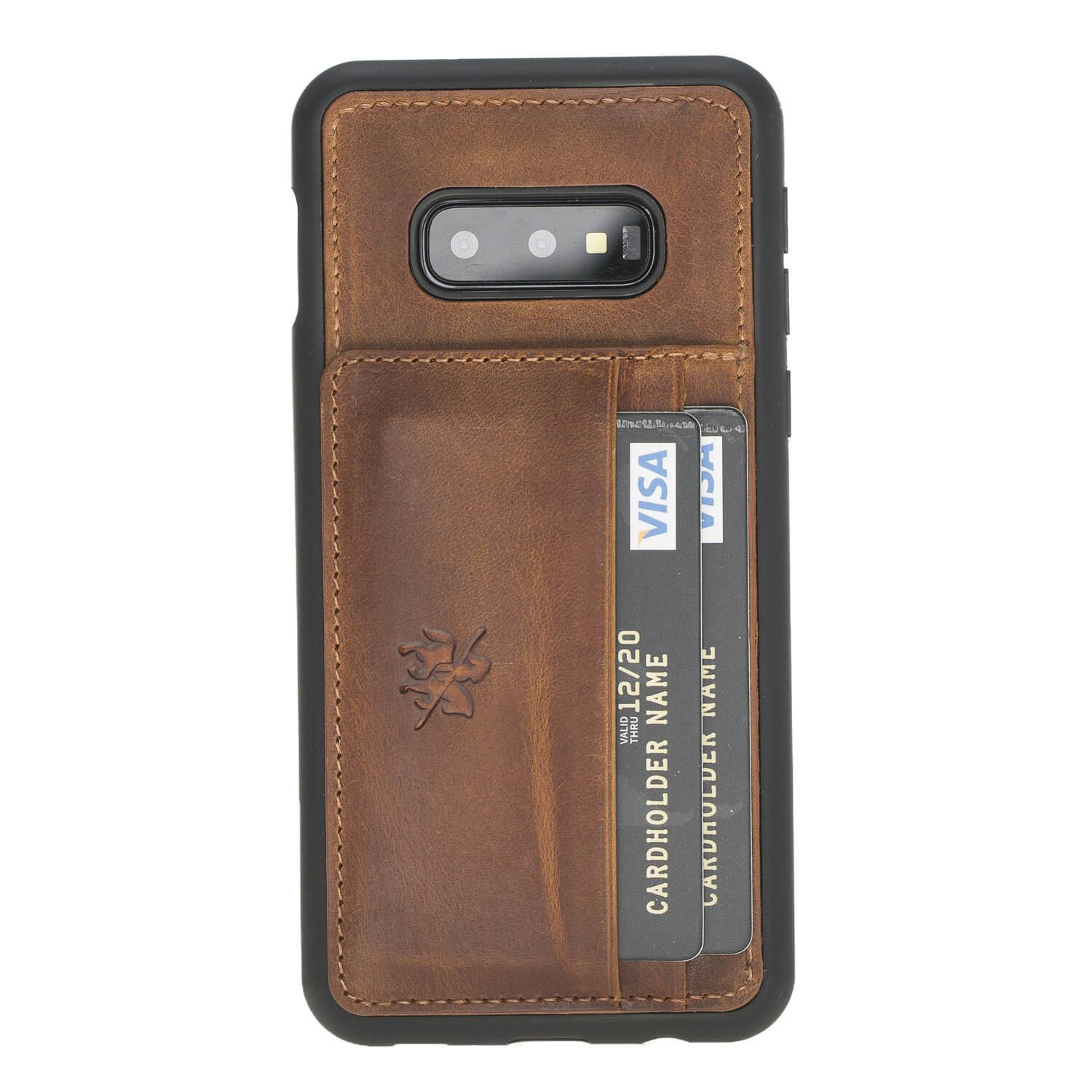 Pisa Snap On Leather Wallet Case with Stand for Samsung Galaxy S10e