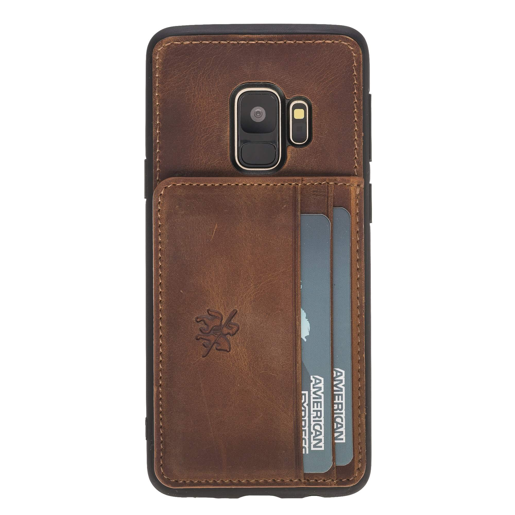 Pisa Snap On Leather Wallet Case with Stand for Samsung Galaxy S9