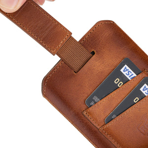 Prato Universal Leather Pouch Case for Smartphones
