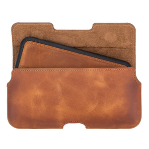 Rome Universal Leather Holster Case with Belt Loop for Smartphones