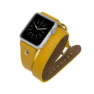 Savona Leather Double Wrap Band Strap for Apple Watch