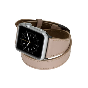 Serena Leather Double Wrap Band Strap for Apple Watch