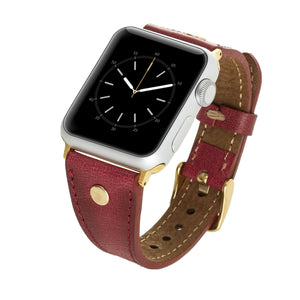 Sessa Leather Slim Band Strap for Apple Watch