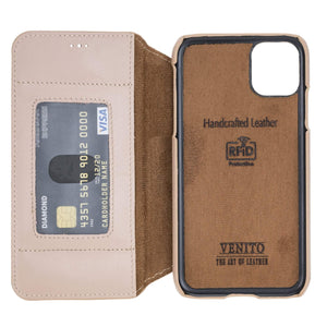 Venice RFID Blocking Leather Wallet Stand Case for iPhone 11