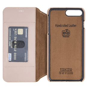 Venice RFID Blocking Leather Wallet Stand Case for iPhone 8 Plus
