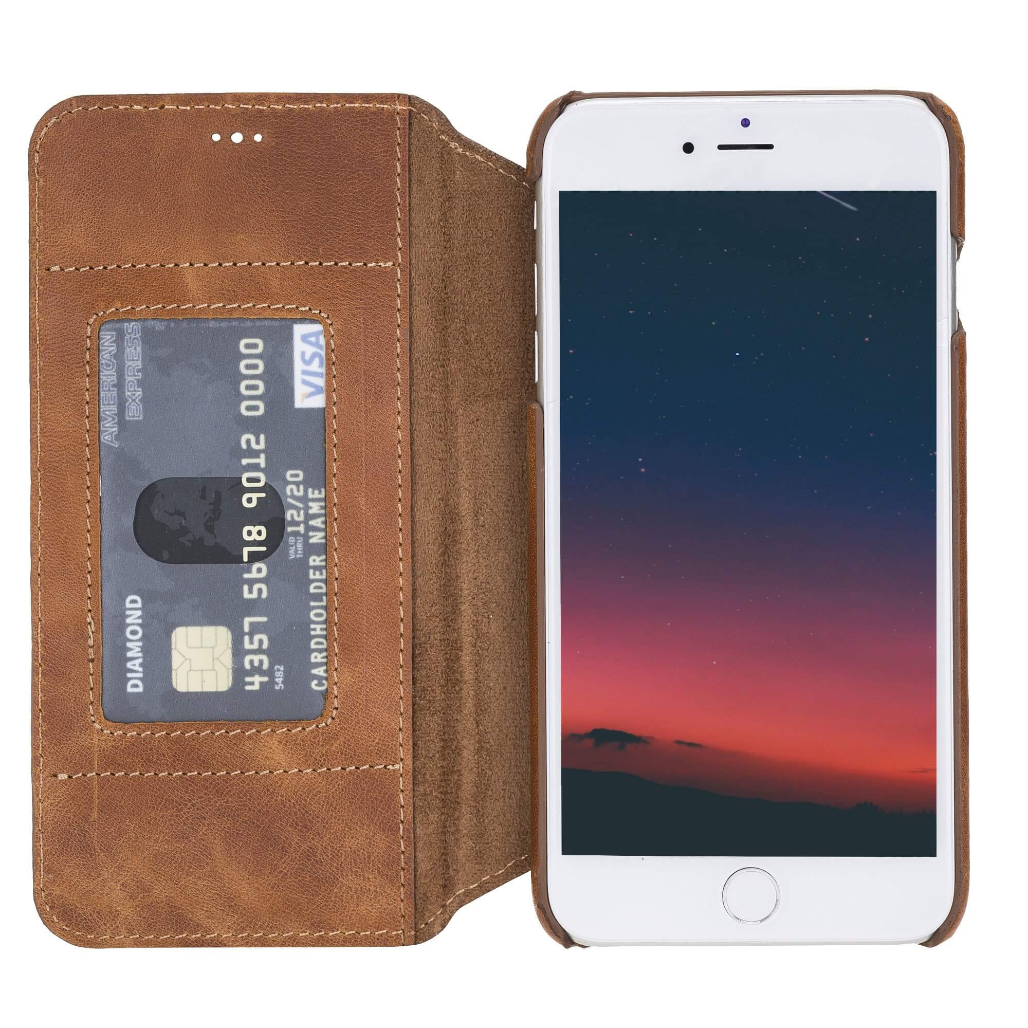 Venice RFID Blocking Leather Wallet Stand Case for iPhone SE 2020