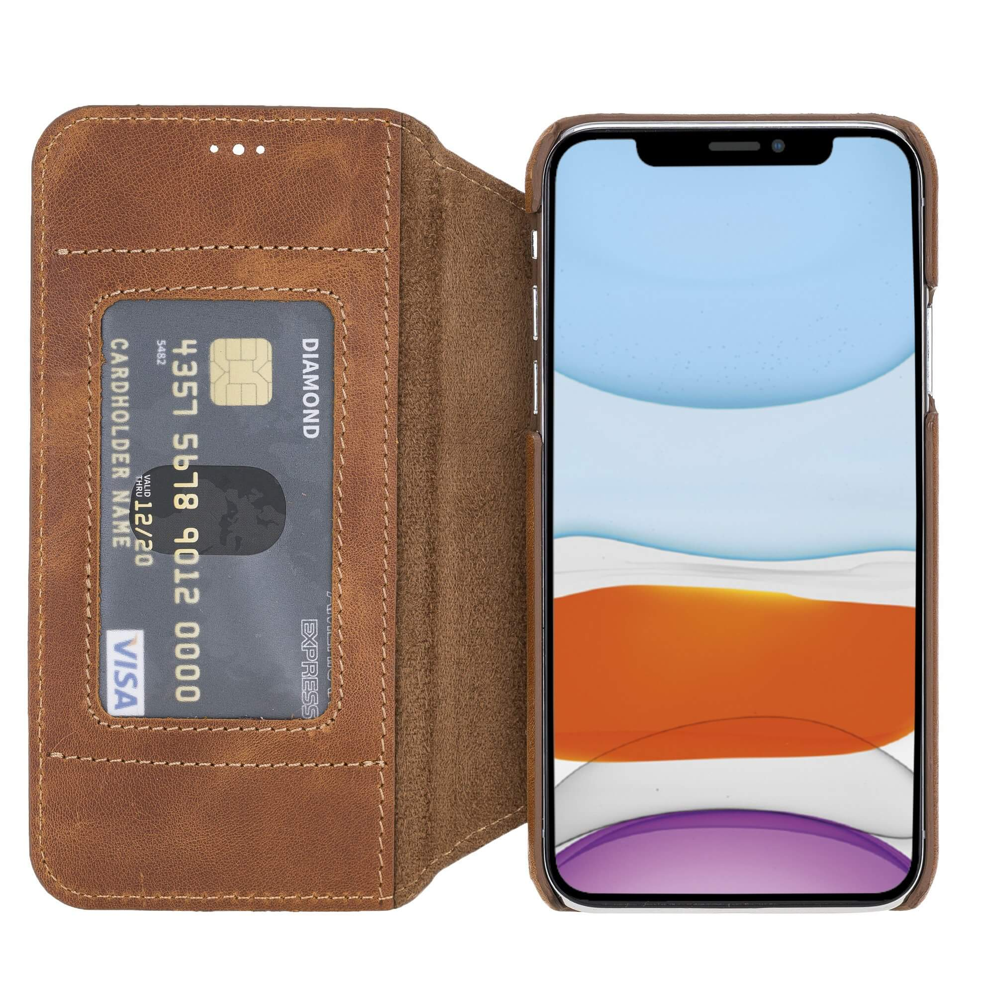 Venice RFID Blocking Leather Wallet Stand Case for iPhone X