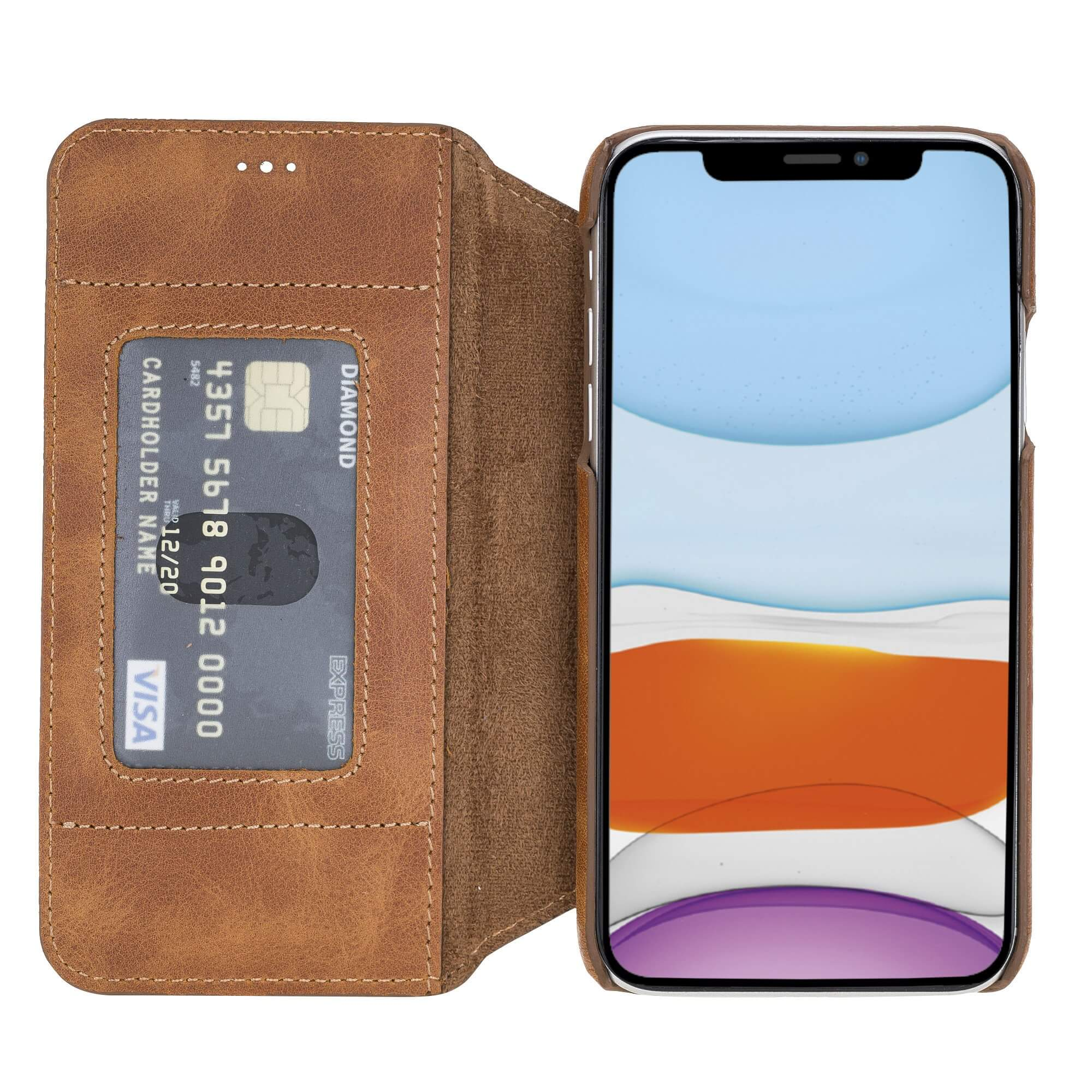 Venice RFID Blocking Leather Wallet Stand Case for iPhone XR