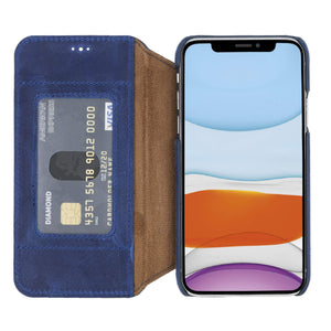 Venice RFID Blocking Leather Wallet Stand Case for iPhone XS
