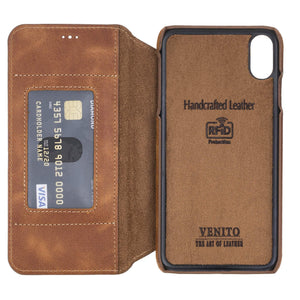 Venice RFID Blocking Leather Wallet Stand Case for iPhone XS Max